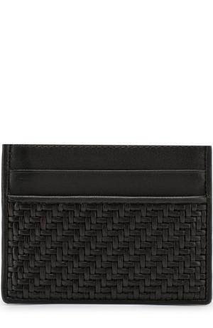 Кожаный футляр для кредитных карт Ermenegildo Zegna. Цвет: темно-коричневый