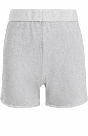 Хлопковые мини-шорты Deha. Цвет: серый