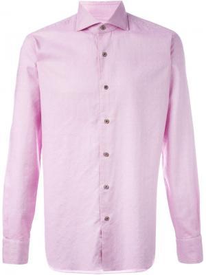 Рубашка Dandy Life Barba. Цвет: розовый и фиолетовый