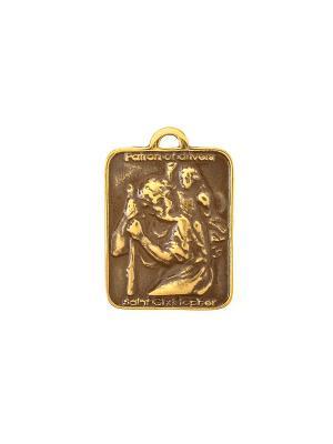 Амулет защитный Святой Христофор Aztek. Цвет: желтый