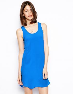Шелковое платье-майка  Tracy S.Y.L.K. Цвет: королевский синий
