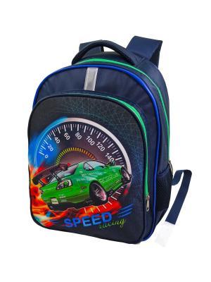 Портфель ученический Stelz. Цвет: синий, голубой, зеленый