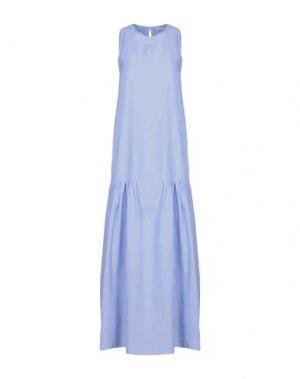 Длинное платье P.A.R.O.S.H.. Цвет: лазурный