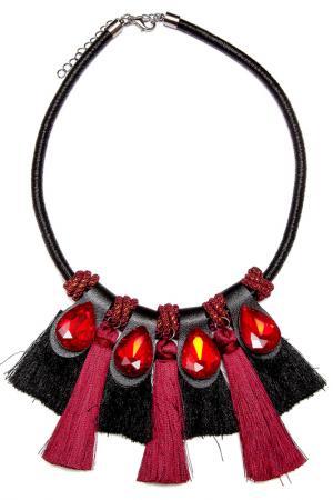 Колье Asavi Jewel. Цвет: черный, бордовый, золотой