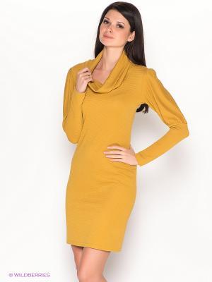 Платье Hammond. Цвет: горчичный