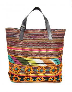 Becksondergaard Пляжная сумка с вышивкой. Цвет: оранжевый