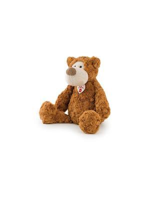 Мягкая игрушка Мишка с трикотажной вставкой, 36 сантиметров TRUDI. Цвет: коричневый