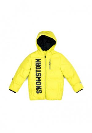 Куртка утепленная PlayToday. Цвет: желтый