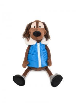 Мягкая Игрушка Пес Ватсон с Тапком, 20 См MAXITOYS. Цвет: серый, светло-коричневый