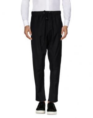 Повседневные брюки MESSAGERIE. Цвет: черный