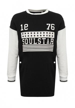 Свитшот Soulstar. Цвет: черный