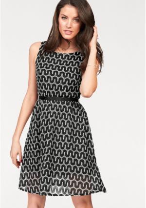 Платье VIVANCE. Цвет: черный/белый