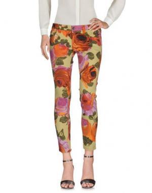 Повседневные брюки TROU AUX BICHES. Цвет: кислотно-зеленый