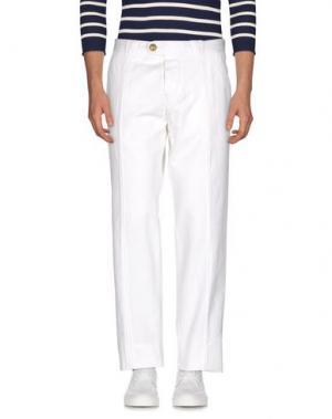 Джинсовые брюки BARBA Napoli. Цвет: белый