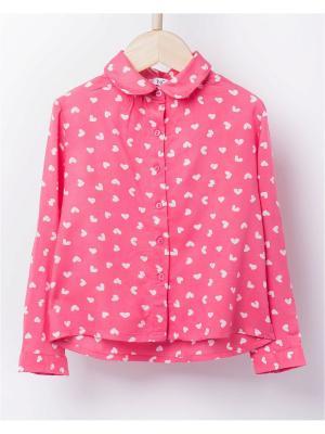 Блузка INCITY. Цвет: розовый, белый
