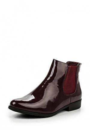 Полусапоги Style Shoes. Цвет: бордовый