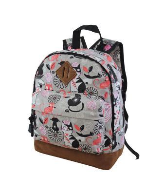 Рюкзак Stelz. Цвет: черный, розовый, серый