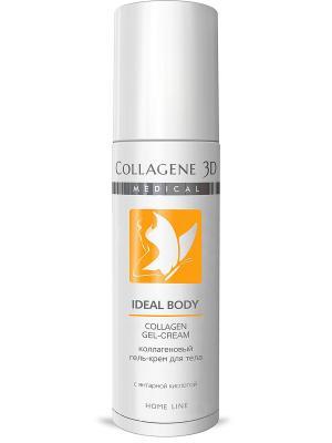Гель для тела IDEAL BODY с янтарной кислотой Medical Collagene 3D. Цвет: белый, оранжевый