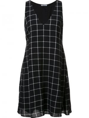 Платье в клетку Sami Zac Posen. Цвет: чёрный