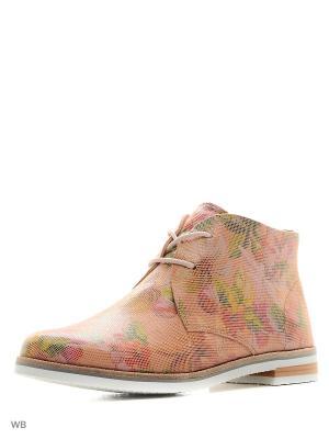Ботинки Caprice. Цвет: розовый