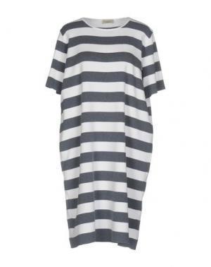 Короткое платье BRUNO MANETTI. Цвет: грифельно-синий