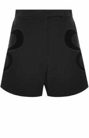 Мини-шорты с завышенной талией Elie Saab. Цвет: черный