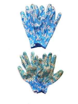 Садовые перчатки, 2 пары DiMi. Цвет: голубой
