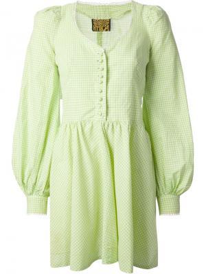 Платье с лифом Biba Vintage. Цвет: зелёный