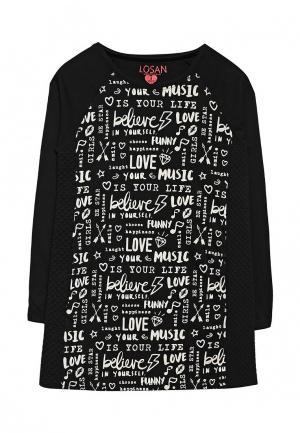 Платье Losan. Цвет: черный