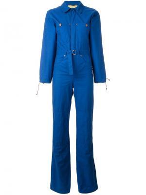 Комбинезон с джинсовыми заплатками Jc De Castelbajac Vintage. Цвет: синий