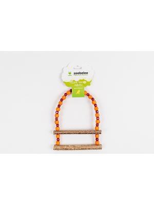 Игрушка для птиц Лесенка Африка средних 35см Zoobaloo. Цвет: коричневый