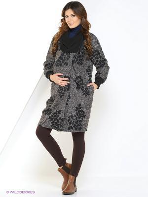 Пальто UNIOSTAR. Цвет: черный, серый
