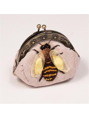 Набор для шитья и вышивания клатч Липовый цвет Матренин Посад. Цвет: серый, бежевый, желтый