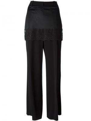 Брюки с декоративной юбкой Givenchy. Цвет: чёрный