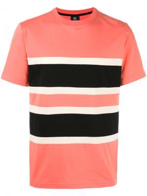 Футболка дизайна колор-блок Paul Smith Jeans. Цвет: жёлтый и оранжевый