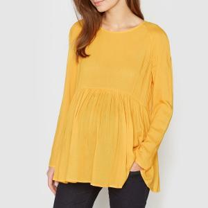 Блузка для периода беременности, длинные рукава La Redoute Collections. Цвет: желтый,экрю
