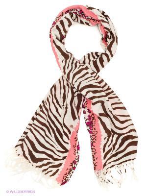 Платок Sabellino. Цвет: белый, коричневый, розовый