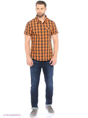 Рубашка Luhta. Цвет: оранжевый