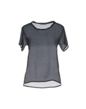 Блузка PLEASE. Цвет: темно-синий