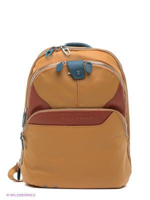 Рюкзак PIQUADRO. Цвет: желтый