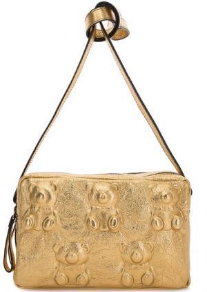 Маленькая кожаная сумка с двумя отделами Io Pelle. Цвет: золотистый