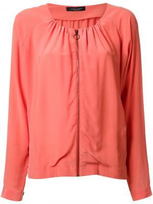 Куртка-блузка Roberto Collina. Цвет: жёлтый и оранжевый