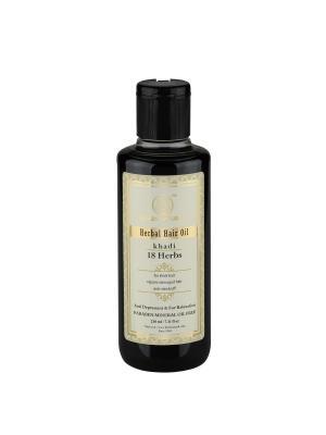 Масло для восстановления волос 18 трав - без парабенов и минерального масла Khadi Natural. Цвет: темно-зеленый