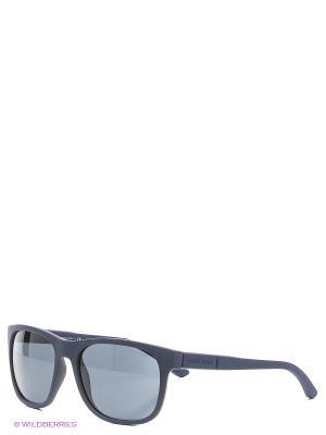 Солнцезащитные очки Giorgio Armani. Цвет: синий