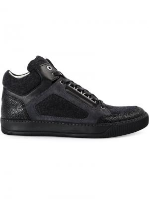 Paneled high top sneakrs Lanvin. Цвет: none