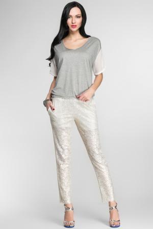 Кружевные брюки 144369 Myf. Цвет: бежевый