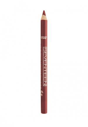 Карандаш для губ Seventeen. Цвет: бордовый