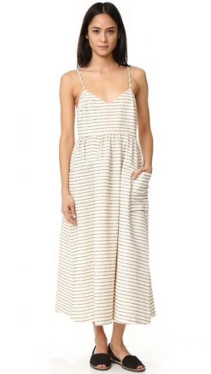 Платье с накладными карманами Mara Hoffman. Цвет: черный/кремовый (в полоску)