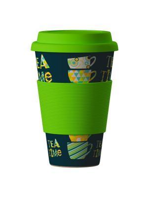 Бамбуковая эко-термокружка Зеленый чай BambooCup Areon. Цвет: зеленый, светло-зеленый