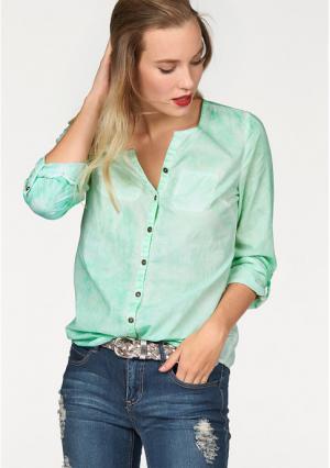 Блузка AJC. Цвет: абрикосовый, индиго, нежно-зеленый, темно-серый